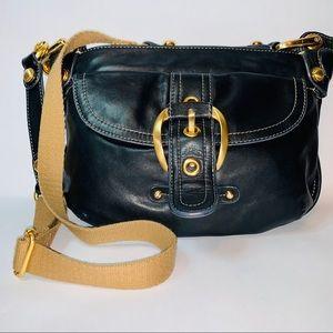 B Makowsky black leather purse.